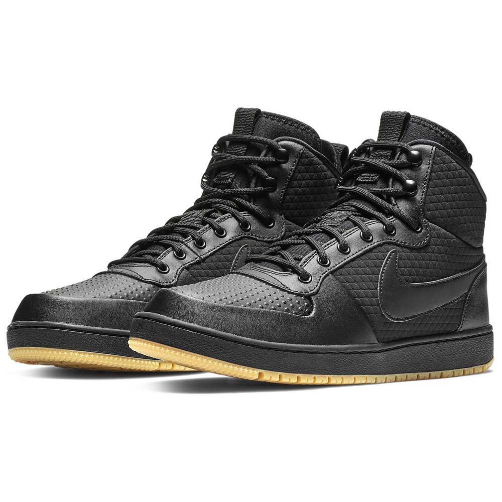 Nike Ebernon Mid Winter Black buy and offers on Dressinn eff9649fda