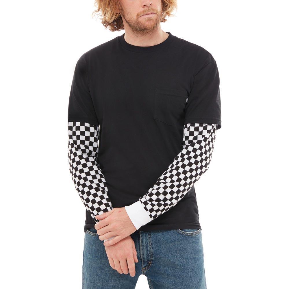 dd32863144ac0a Vans Checker Sleeve Two Fer Black buy and offers on Dressinn