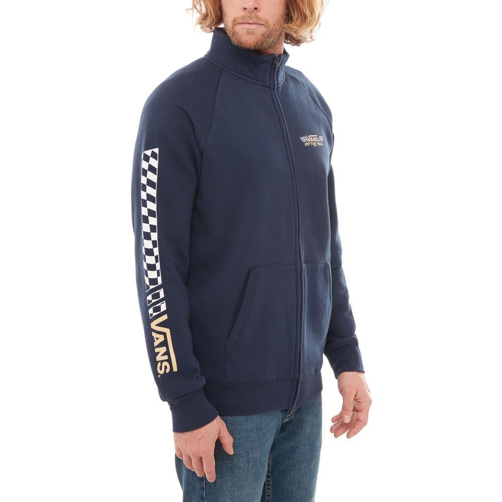 c0e6f01eafa4 Vans Crossed Sticks Track Jacket Blue buy and offers on Dressinn