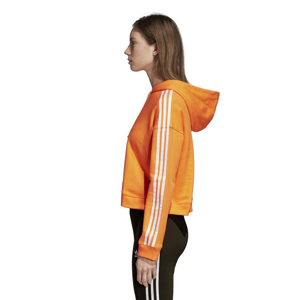 adidas originals Cropped Hoodie Orange, Dressinn Huvtröjor