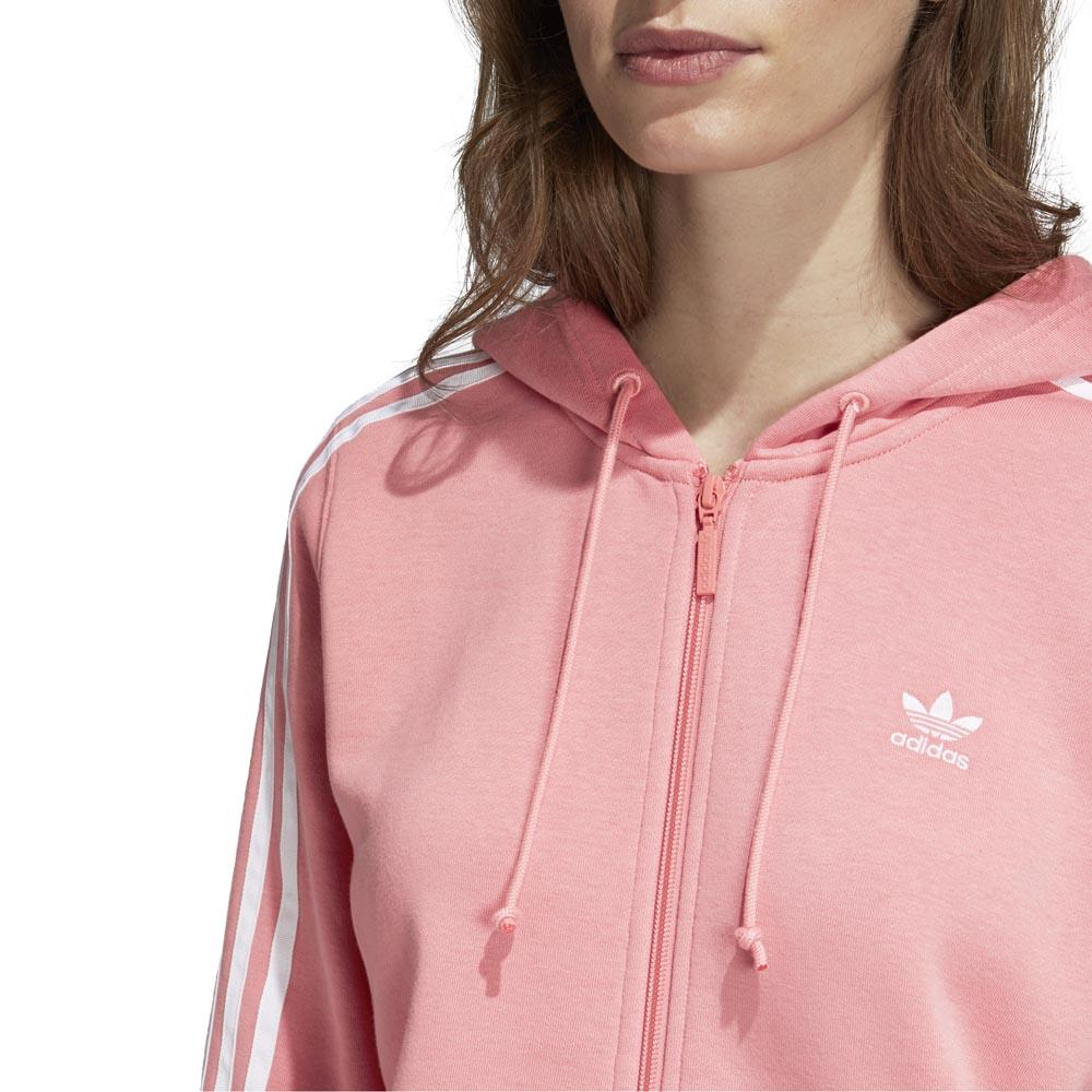 adidas originals 3 Stripes Zip Hoodie Pink, Dressinn