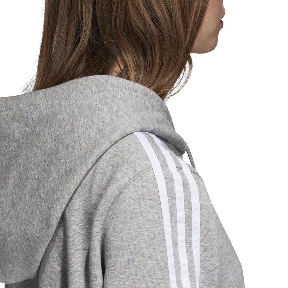 adidas originals 3 Stripes Zip Hoodie Grå, Dressinn Huvtröjor