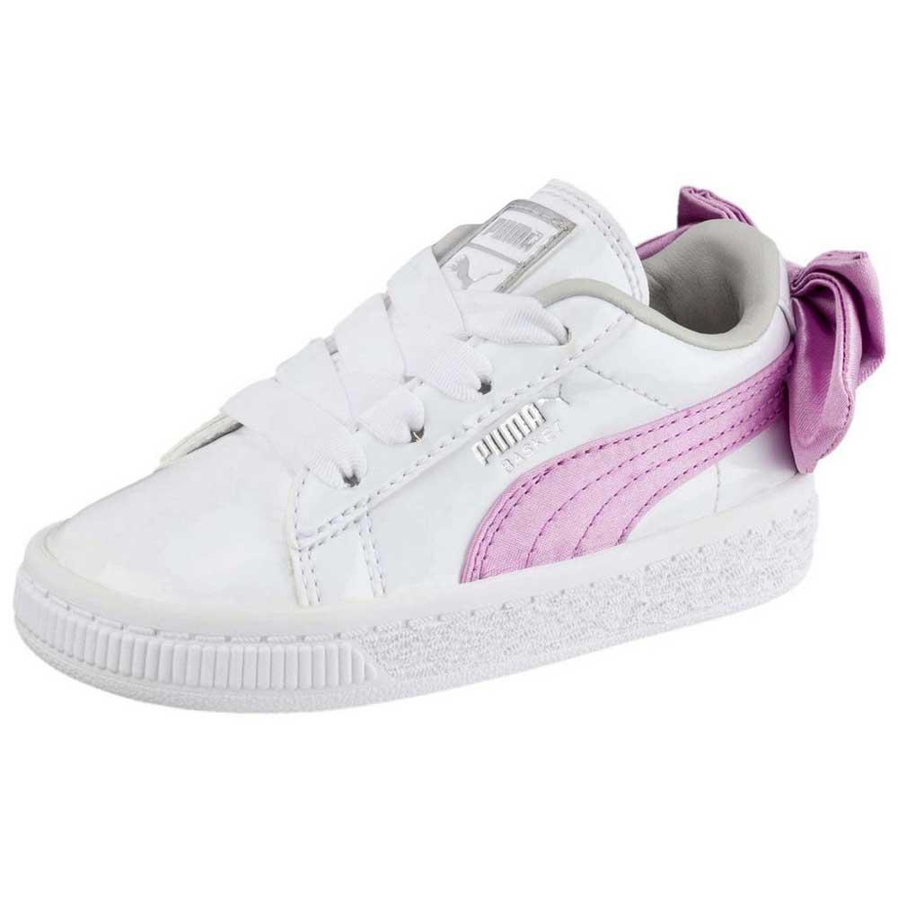 Puma select Basket Bow Patent AC PS Hvit, Dressinn Sneakers