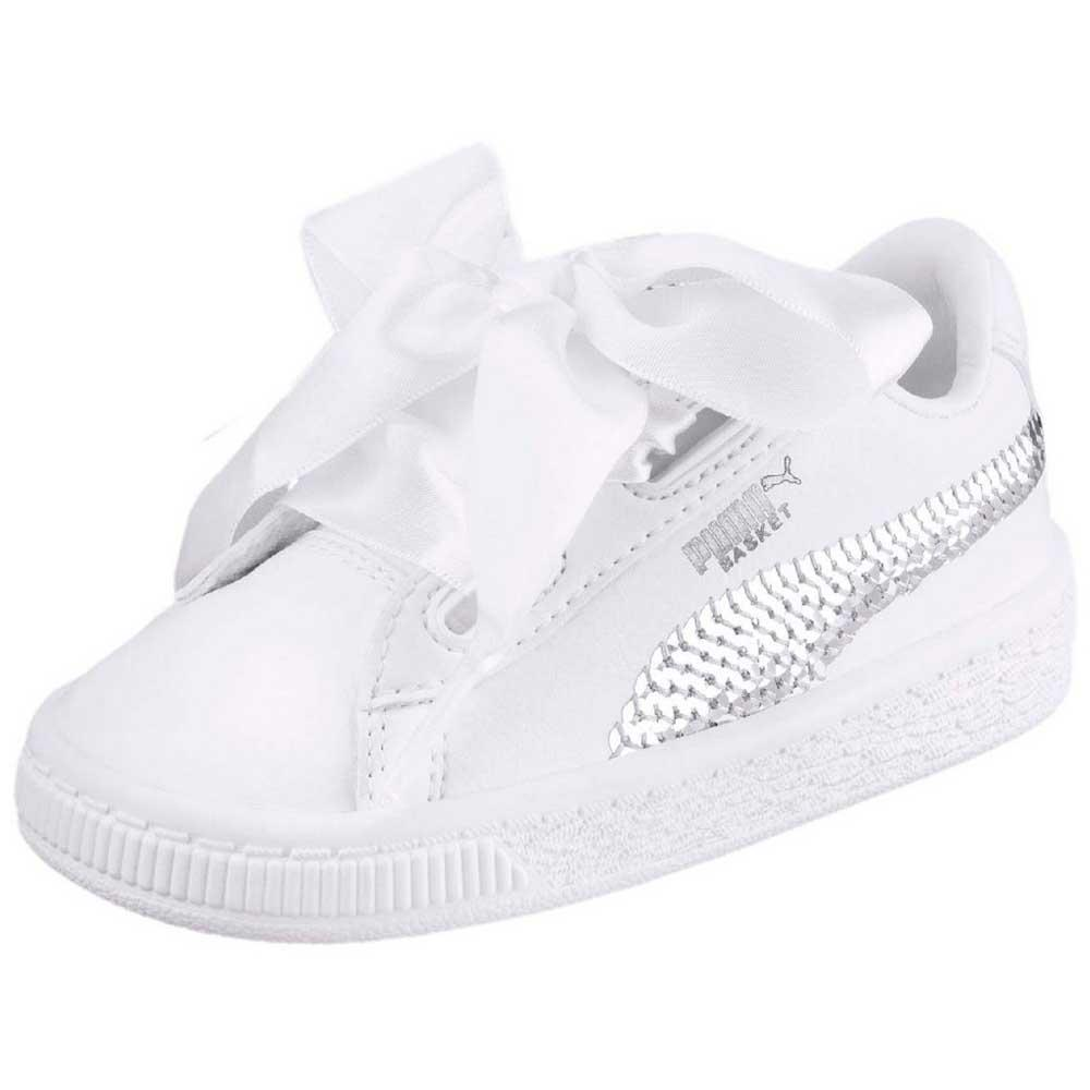 Puma select Basket Heart Bling Infant Vit, Dressinn Sneakers