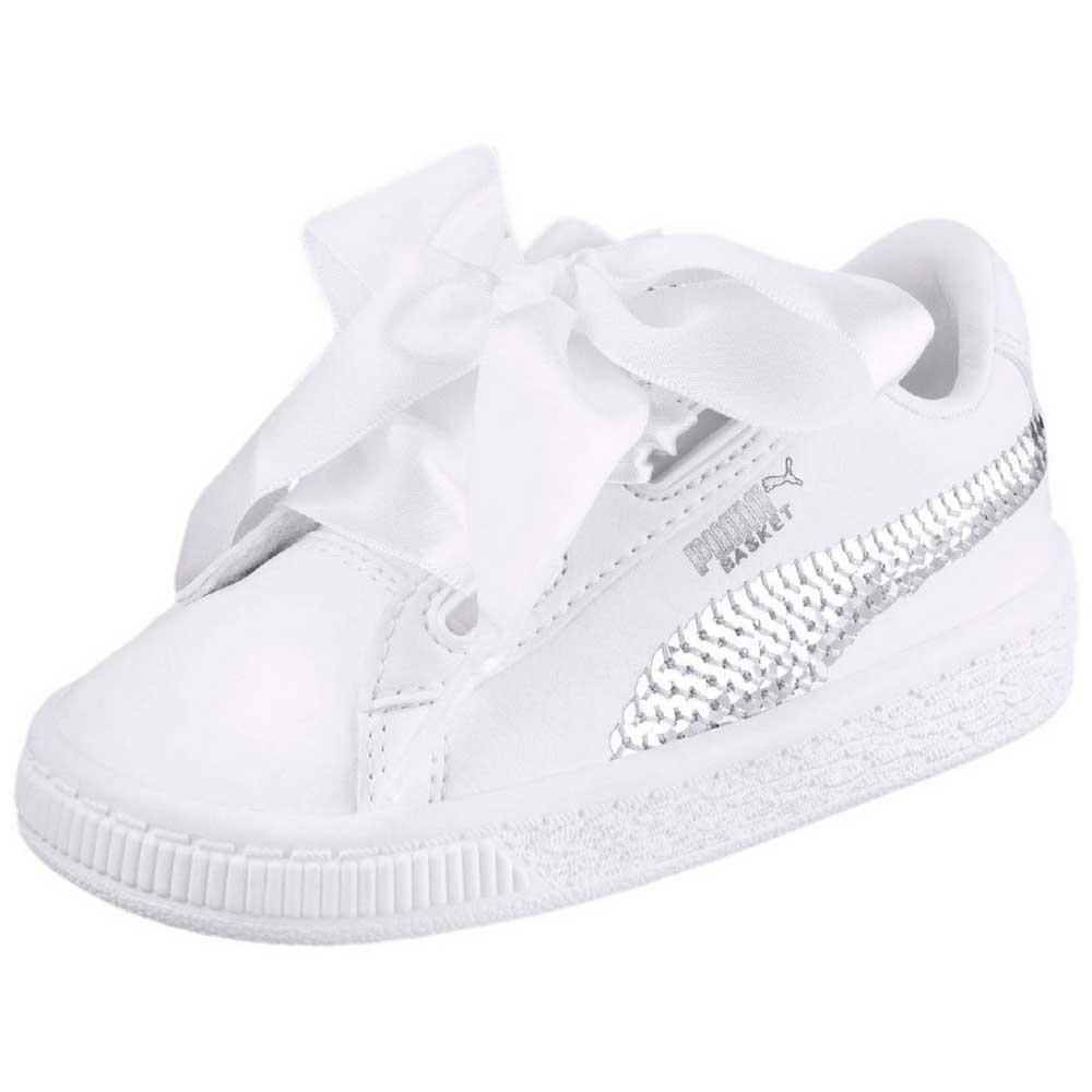 bfa6e86c2f866 Puma select Basket Heart Bling PS Blanc
