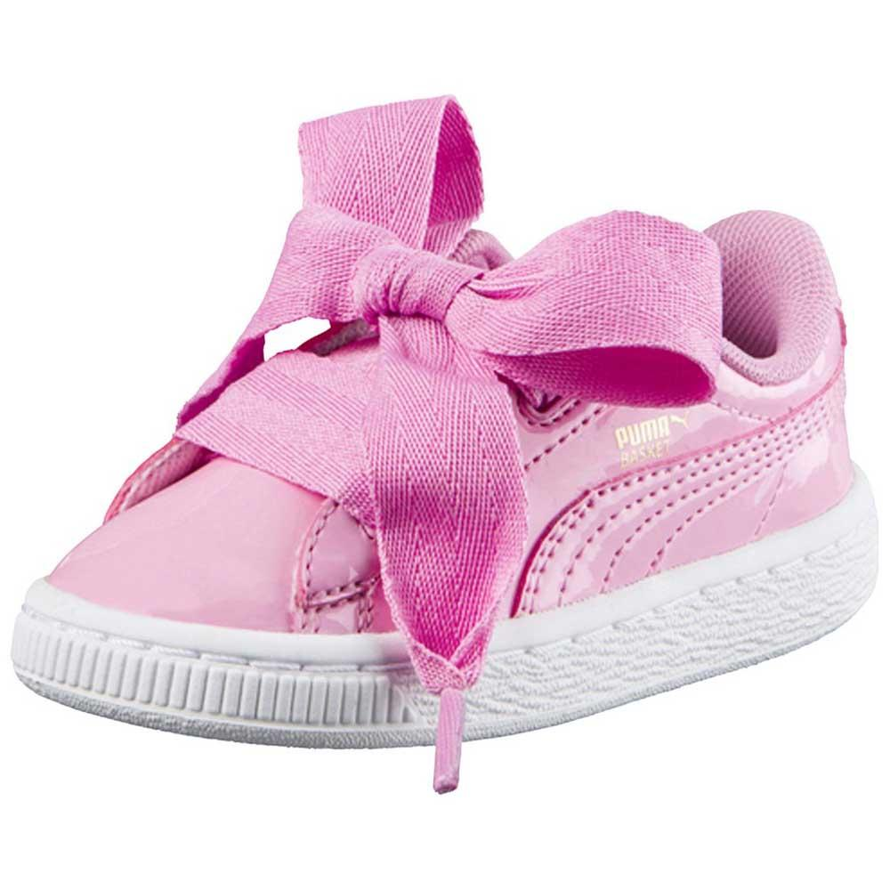 best loved 4995e 9e650 Puma select Basket Heart Patent Infant