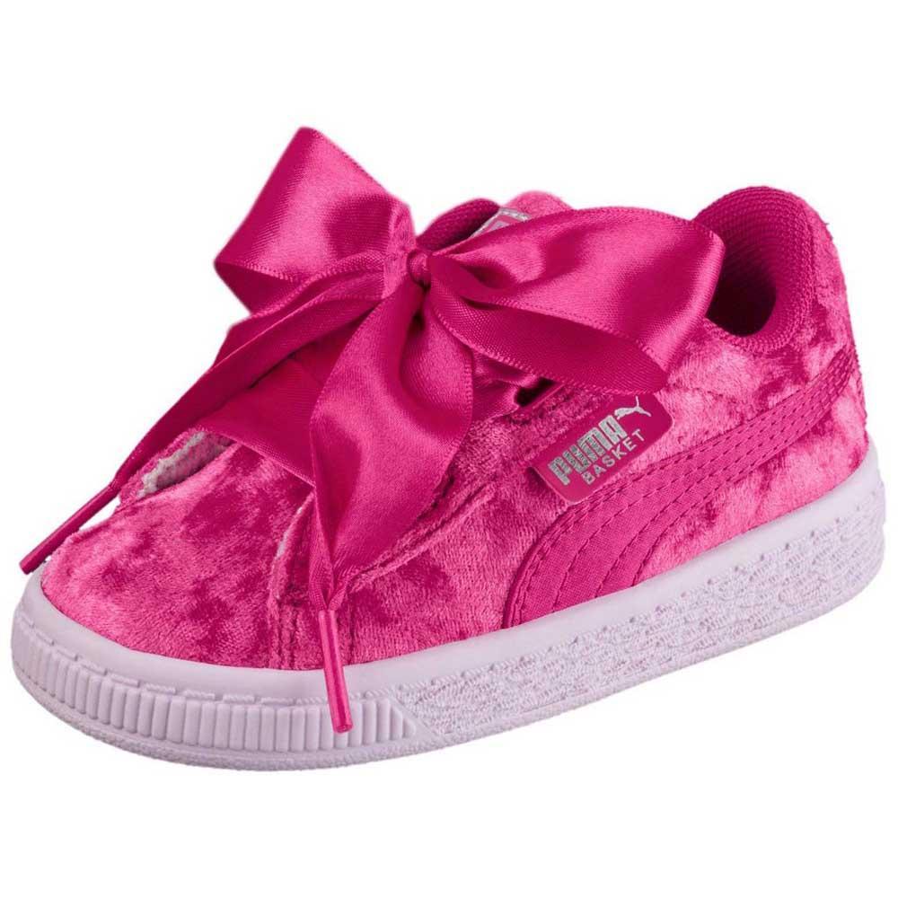 hot sale online be07d 2a9ab Puma select Basket Heart Velour Infant
