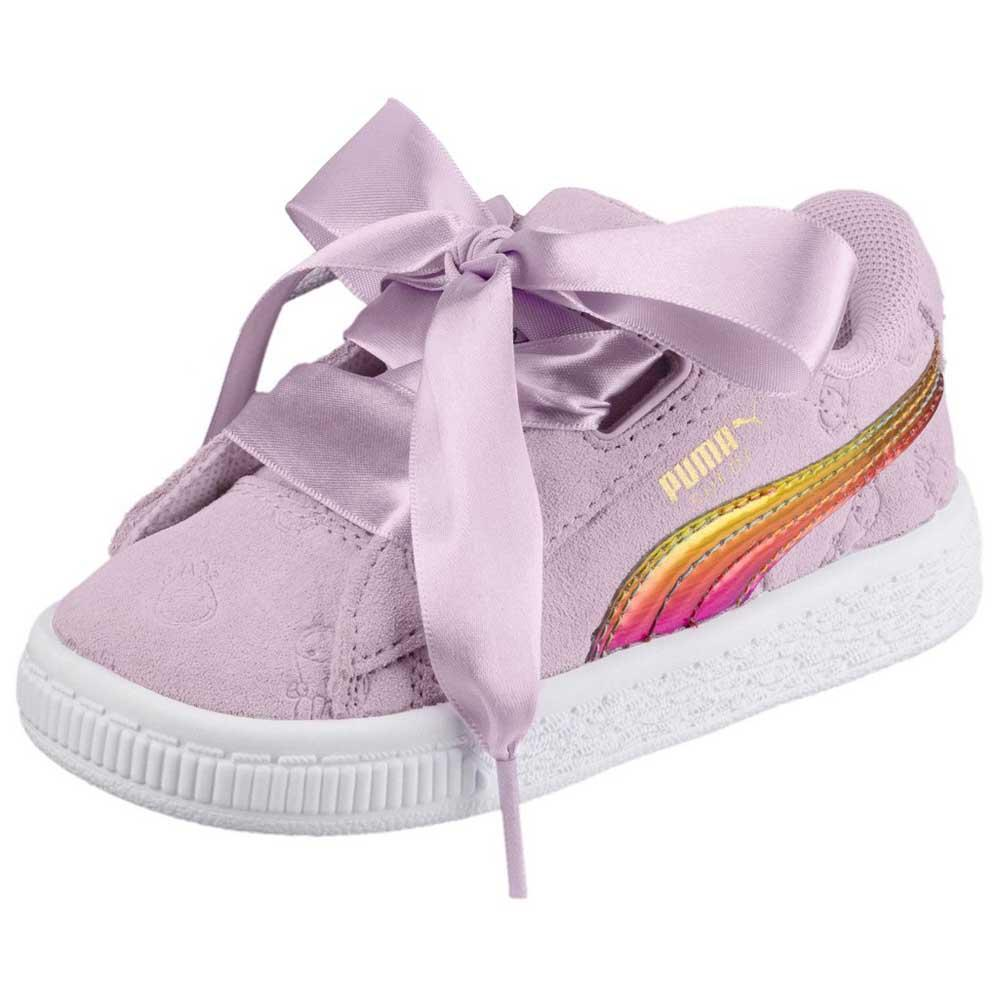 ebb51dc3c10a Puma select Minions Suede Heart Fluffy Infant Pink