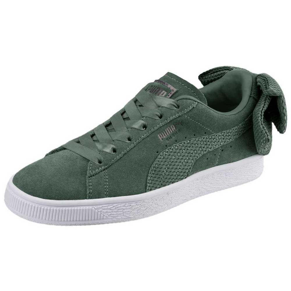 Puma select Suede Bow Uprising Green buy and offers on Dressinn cc174c79c