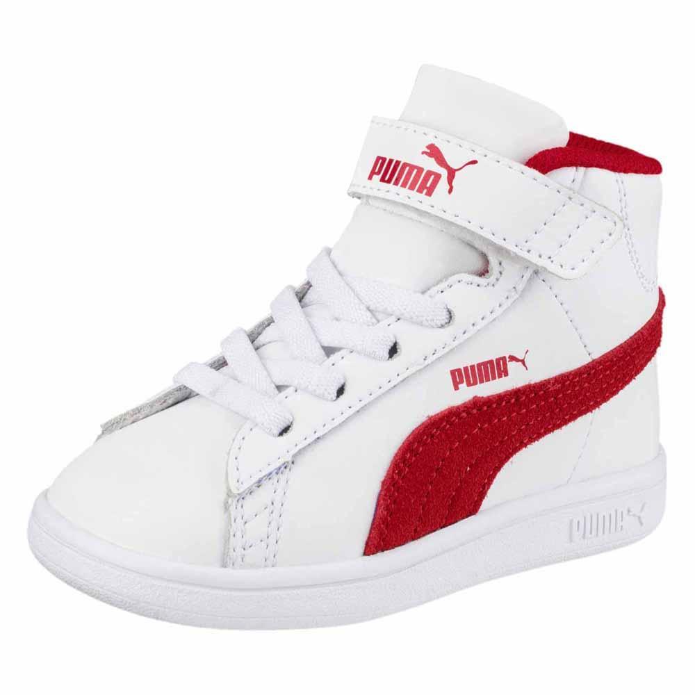 60c5bb74a78 Puma Smash V2 Mid L Velcro PS Blanco