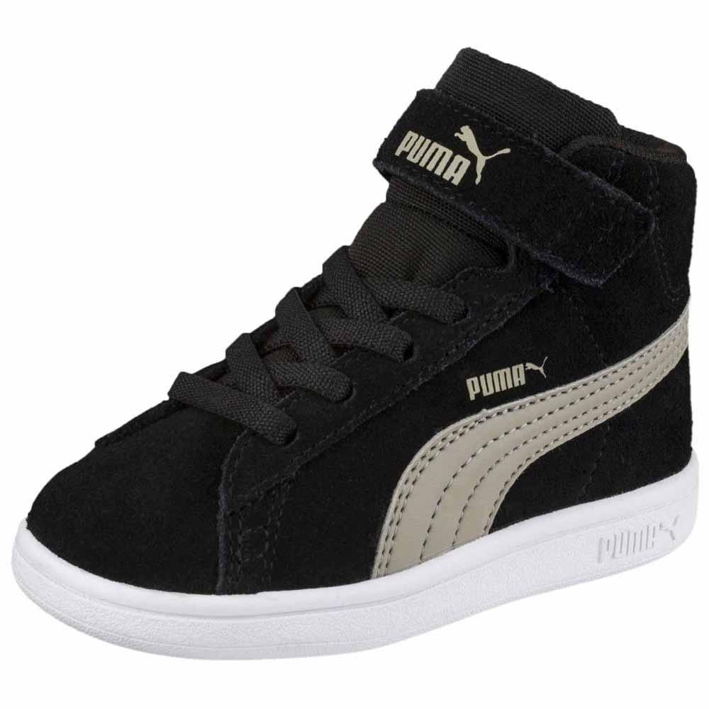 Puma Smash V2 Mid L Velcro Infant Black e5a847377