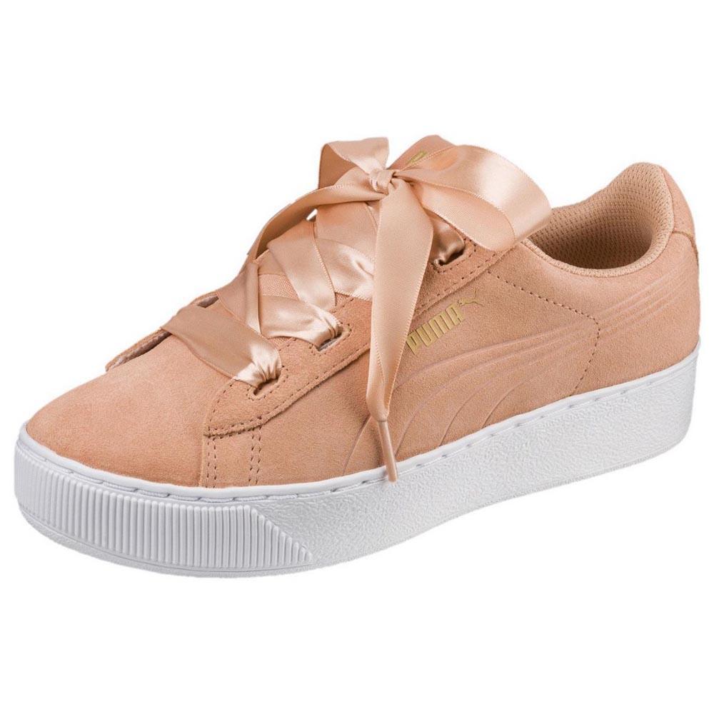 Puma Vikky Platform Ribbon AC PS Oransje, Dressinn Sneakers