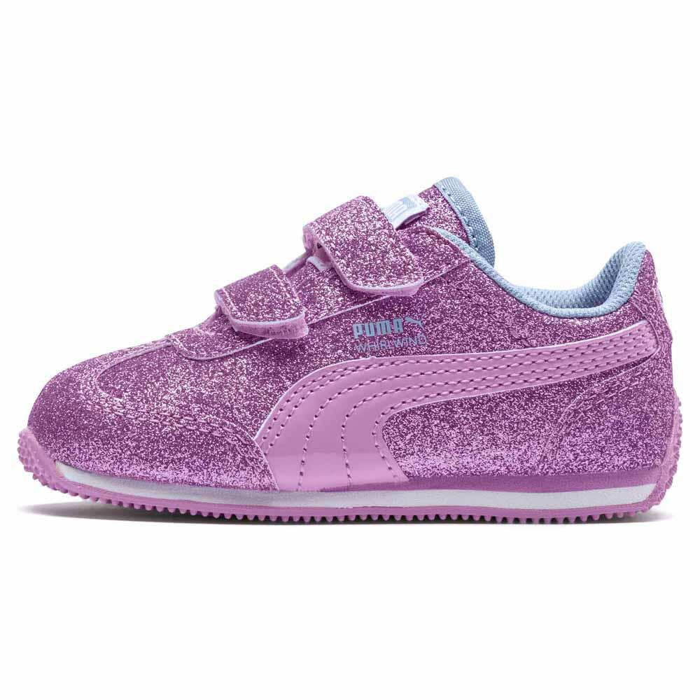 puma smash v2 glitz glam velcro sneakers børn