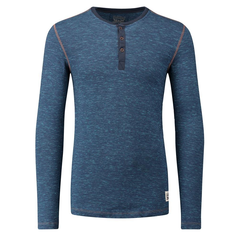 78ddaad130392 Levi´s ® 300LS Tri-Blend L S Henley Blue, Dressinn
