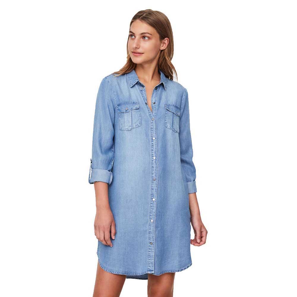 Vero Moda Silla Short Kurzes Kleid Blau Dressinn