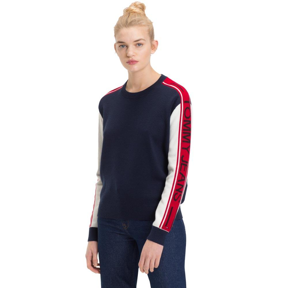 Fin Tommy hilfiger Colorblock Sweater Blue, Dressinn DV-58
