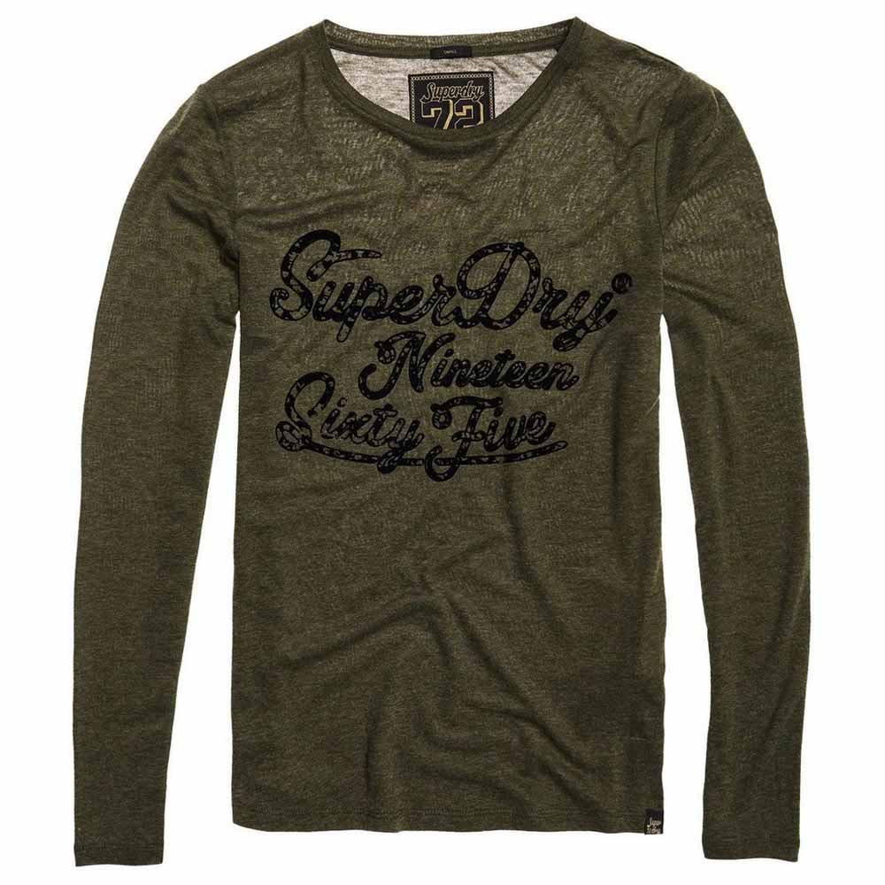 New Womens Superdry Darla Graphic Top Washed Khaki