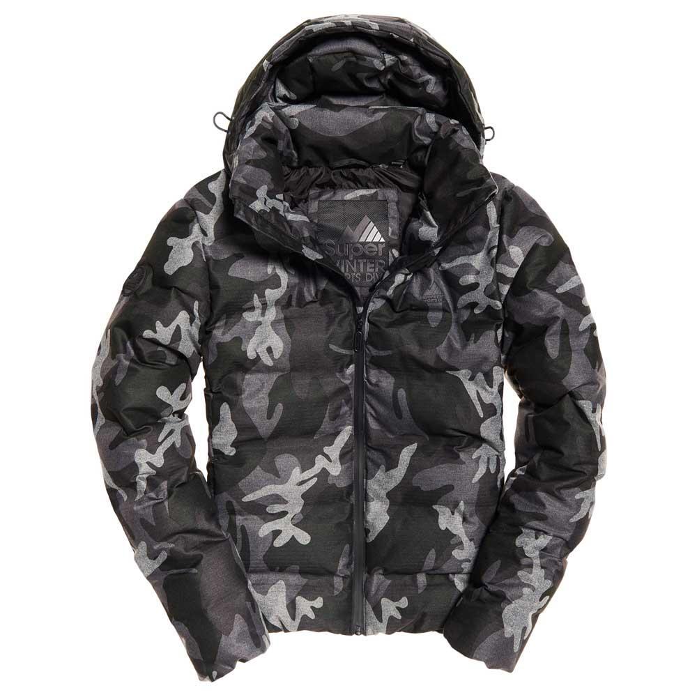 Mens Superdry Echo Quilt Puffer Jacket Marl Camo
