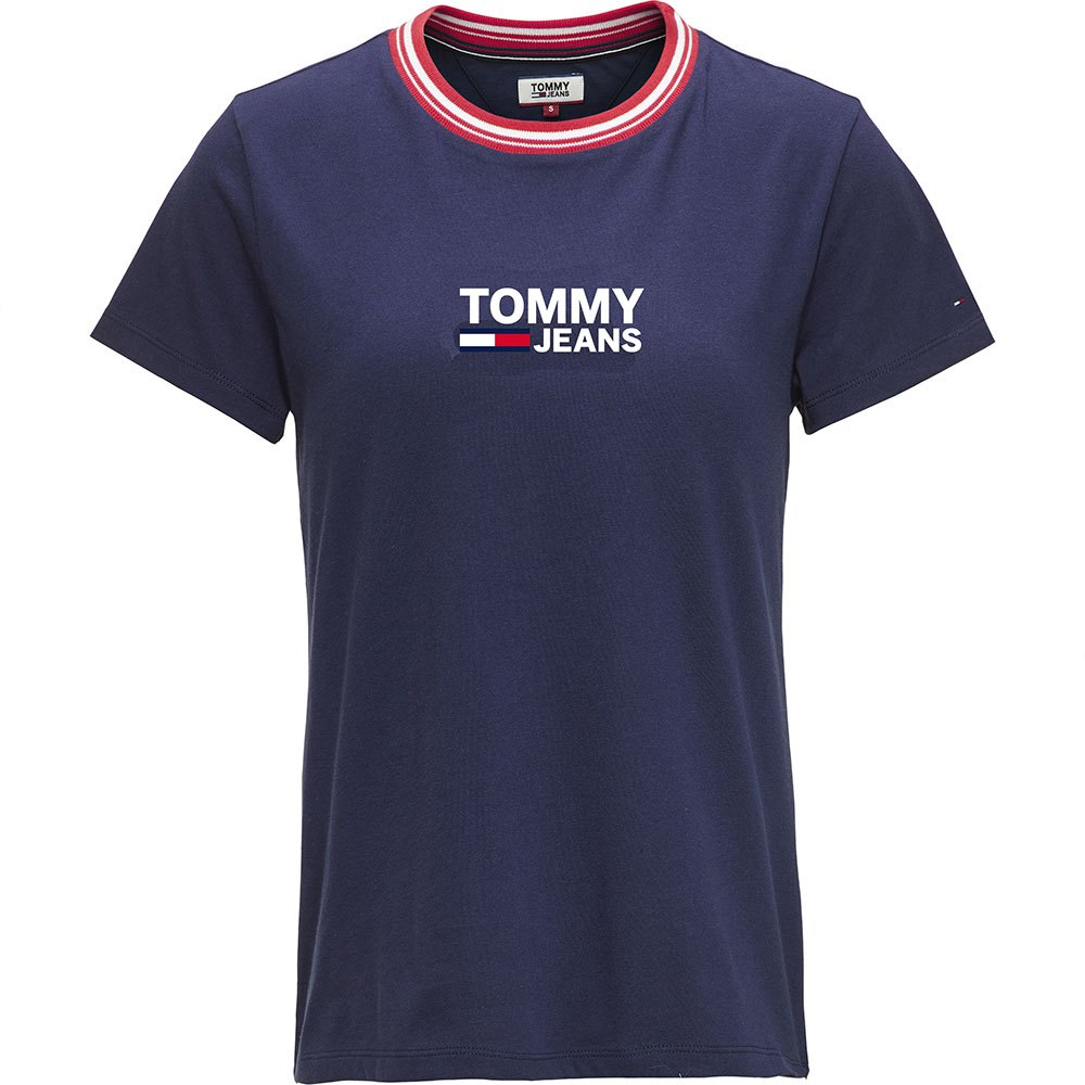 376921985 Tommy hilfiger Rib Stripe Neck Blue buy and offers on Dressinn