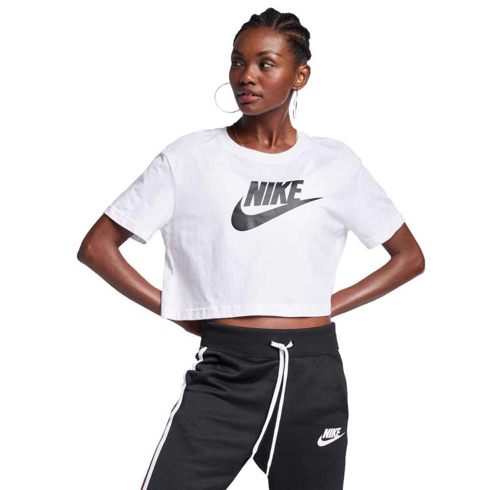 reputable site f218d 9bb28 Nike Sportswear Essential Icon Futura Crop White, Dressinn