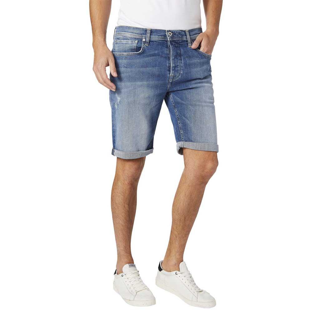 Pepe Jeans Malton Denim Shorts Blue Buy And Offers On Dressinn