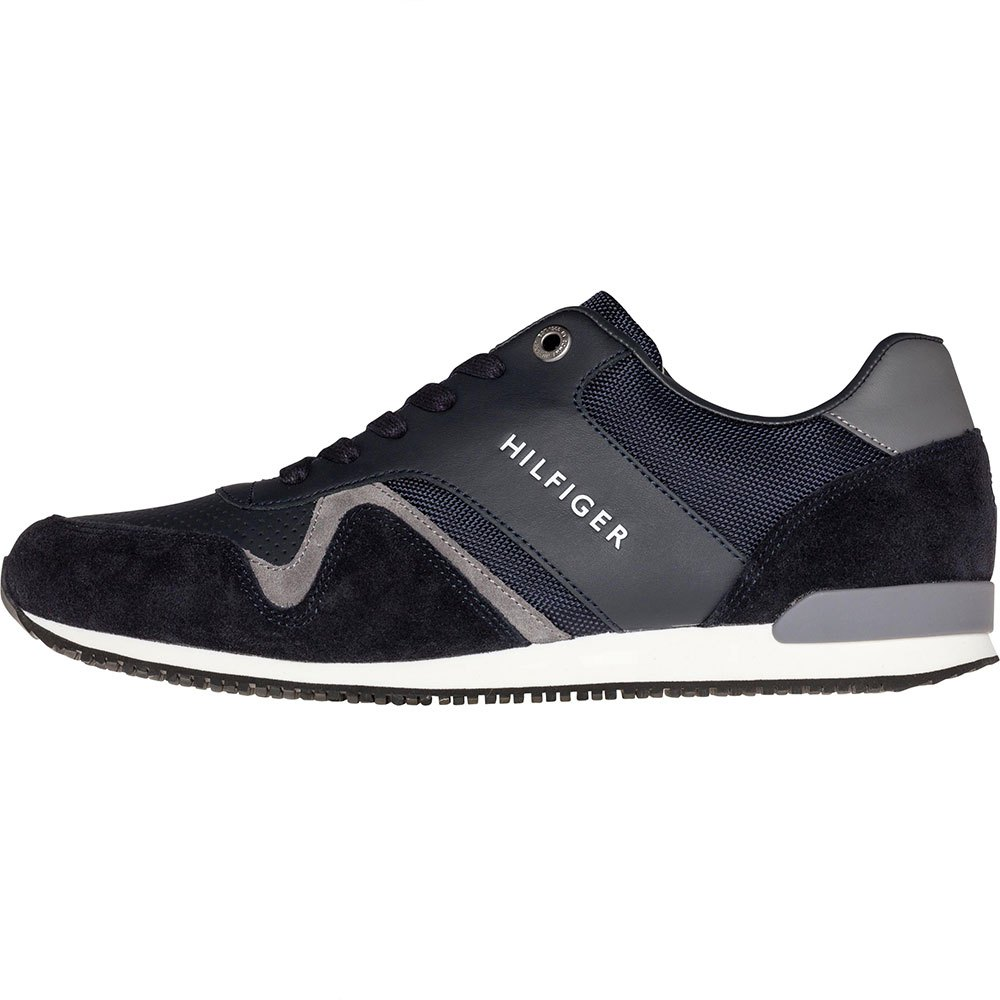 f28612a1a5a4e Tommy hilfiger Iconic Leather Textile Runner Blue