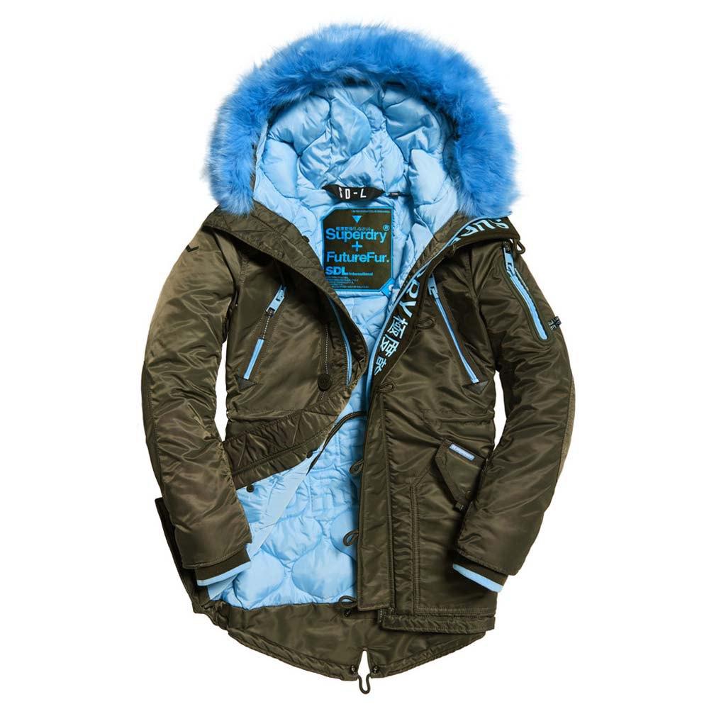 SD L Parka Coat in Oliveblue | Superdry