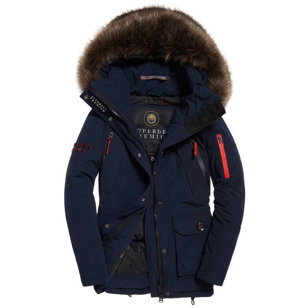 Womens Superdry Fuji Slim Double Zip Hooded Jacket Coat  rrp £85