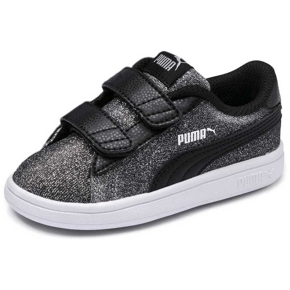 305035164f6061 Puma Smash v2 Glitz Glam V Infant Grey