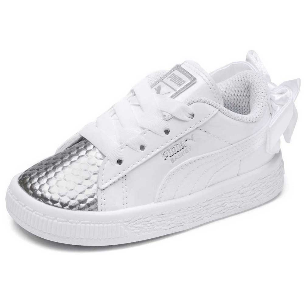 check out b26f6 1dbd9 Puma select Basket Bow Coated Glam AC Infant