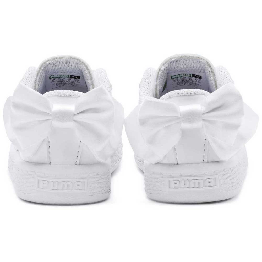 7e767d2c420d Puma select Basket Bow Coated Glam AC Infant White
