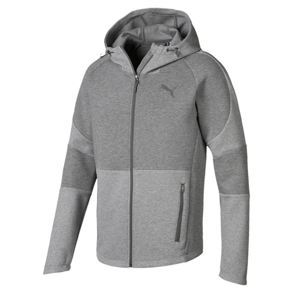Puma Evostripe Move Full Zip Sweatshirt Grey, Dressinn