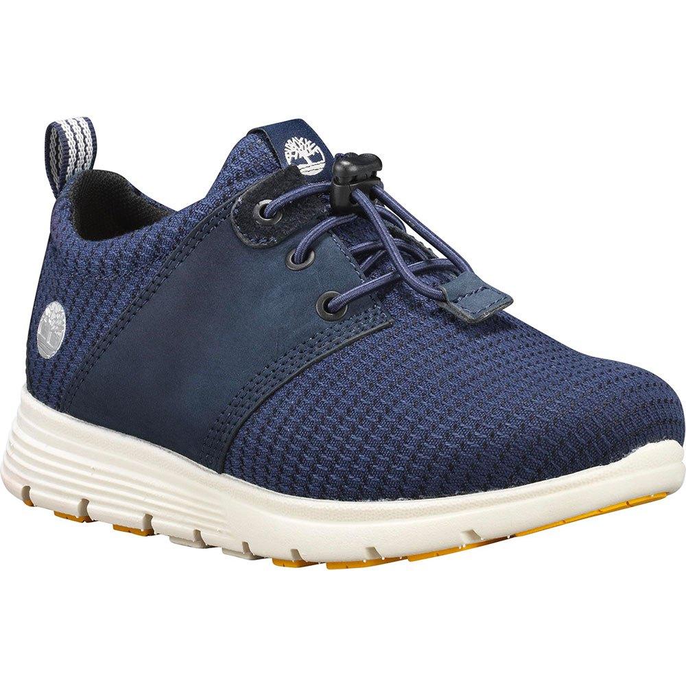 Hook & Loop Blue Leather Casual Sko For Herre