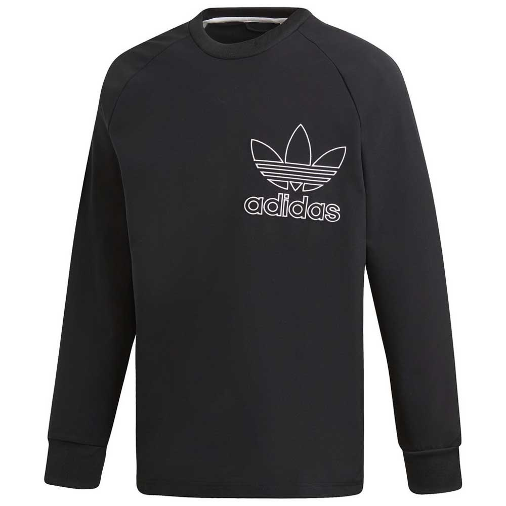adidas originals outline crew bluza czarny