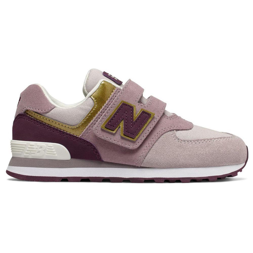 New balance 574 Velcro Trainers Purple buy and offers on Dressinn