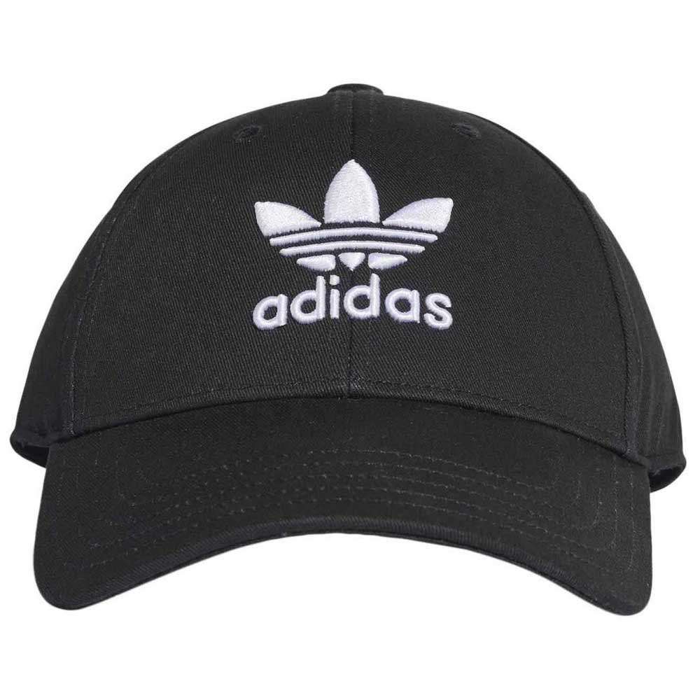 New MENS ADIDAS BLACK CLASSIC TREFOIL COTTON CAP BASEBALL CAPS