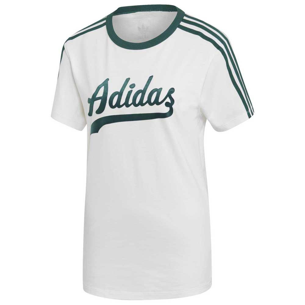adidas Originals Women's Cropped Top Trefoil Logo Black White T Shirt (B Grade)