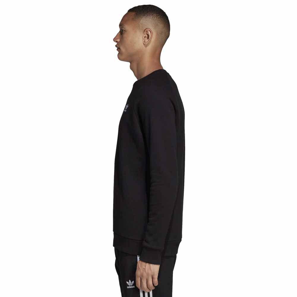 felpa adidas essentials crew uomo nera