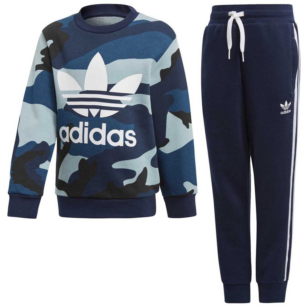 great prices separation shoes on wholesale adidas originals Camo Crew Blue buy and offers on Dressinn