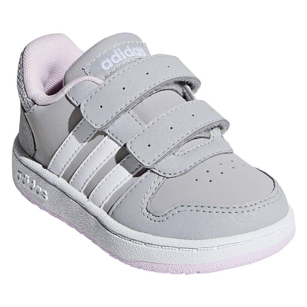 Adidas Hoops 2.0 K Grey Two Grå sneakers junior barnskor