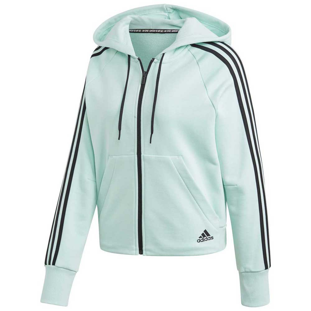 adidas Must Have 3 Stripe Zip Through Hoody