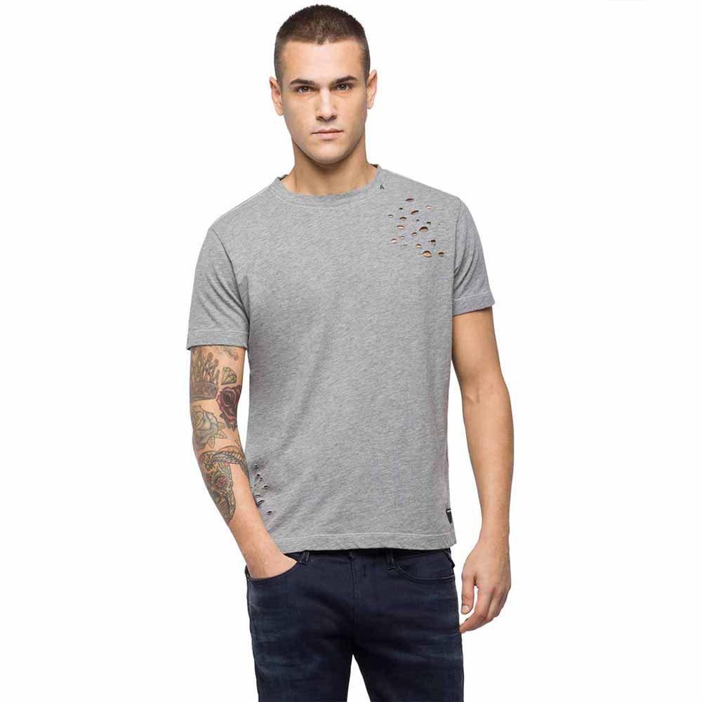c3c0edd7 Replay Melange Cotton Slub Jersey Grey, Dressinn