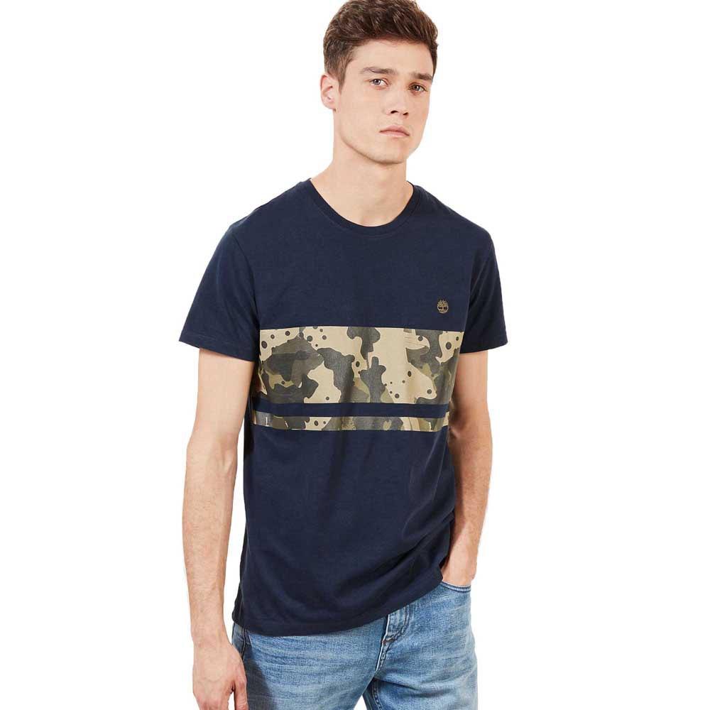 Timberland Kennebec River Print Block Blå, Dressinn T skjorter
