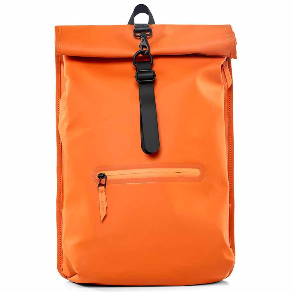 63e6e890 Rains Roll Top Rucksack 18L Orange buy and offers on Dressinn