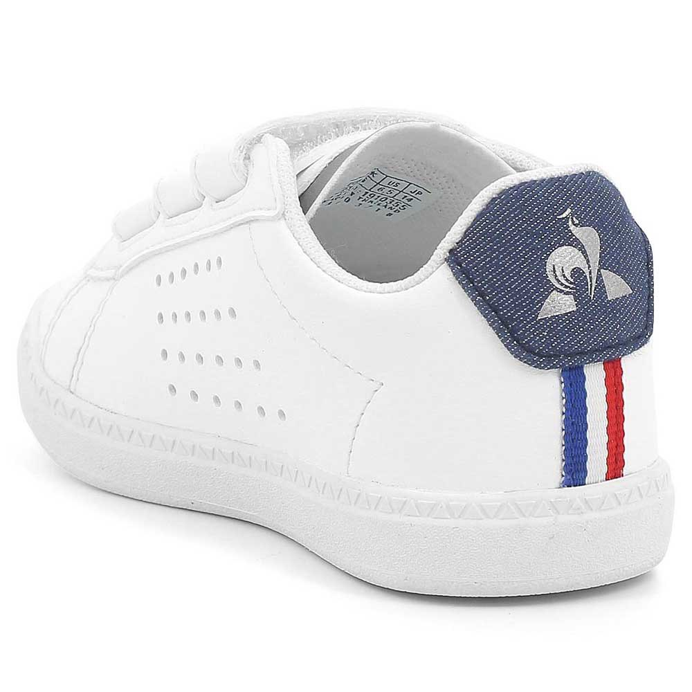 f1fe4d0206 Le coq sportif Courtset Inf Denim Girl White, Dressinn