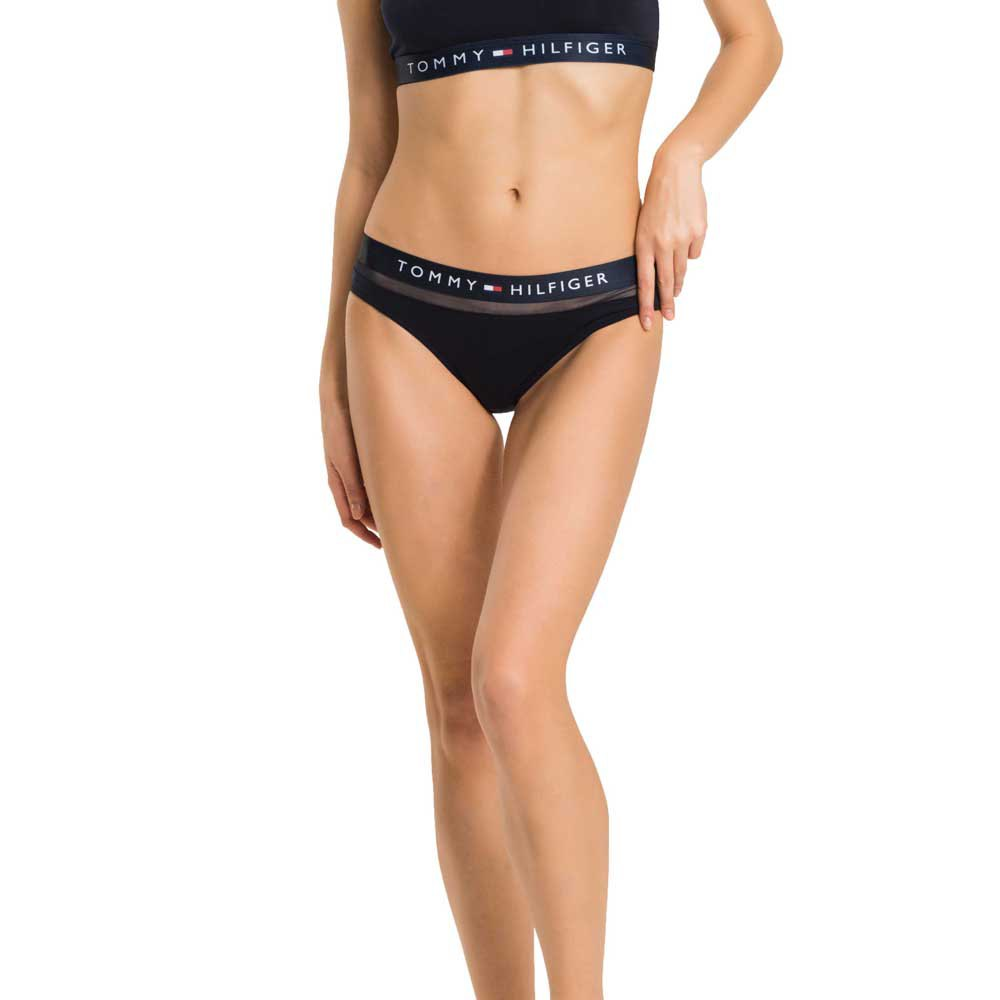 Missguided Mesh Detail High Waist Bikini Brief