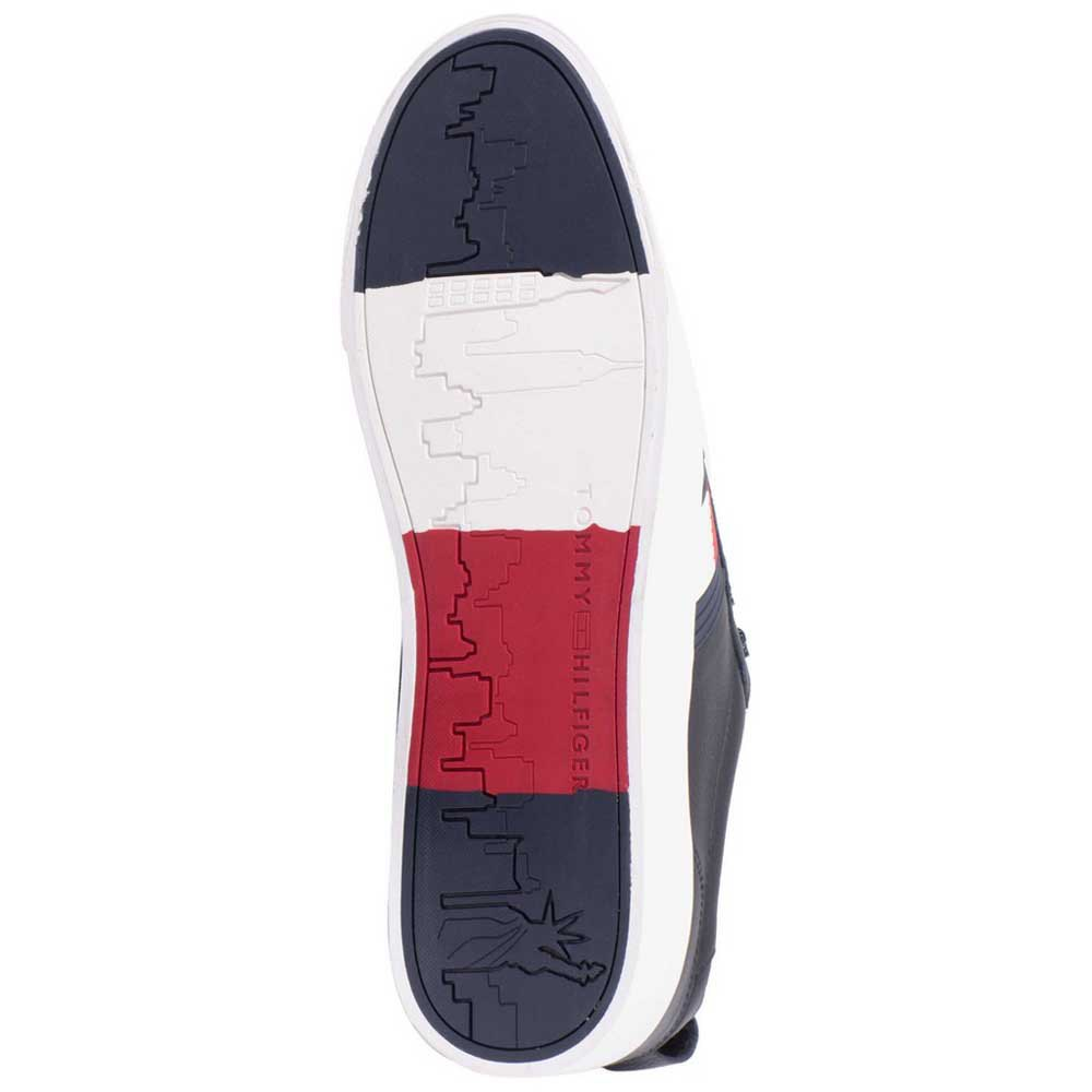 sneakers-tommy-hilfiger-flag-detail-leather-low-tops, 64.95 EUR @ dressinn-italia