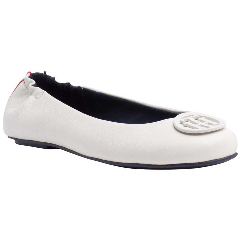 2554616ca Tommy hilfiger Leather Ballerina Pumps White, Dressinn