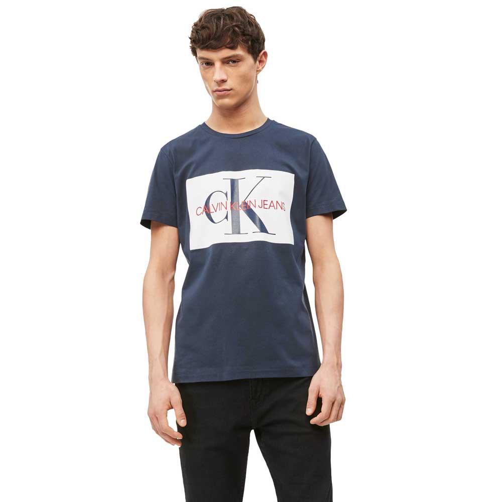Calvin Klein Slim Logo T shirt | Vista Blue