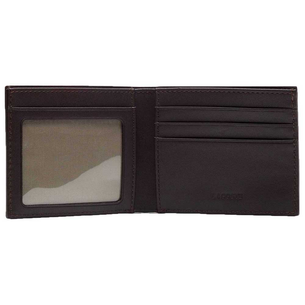 d548dbb7b7 Lacoste Fitzgerald Billfold Leather With ID Card Holder Black, Dressinn